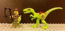 Lego NEW Series 12 Dino Tracker Minifigure w/  Green Coelphysis Dinosaur 30320