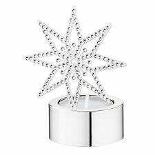 Swarovski Tea Light, Silver Star Mib #5030477