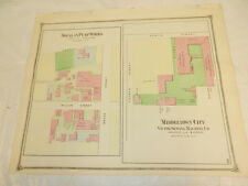 1874 Antique COLOR Map//LAYOUT OF SEVERAL BUSINESSES IN MIDDLETOWN, CT