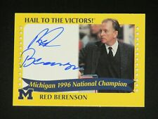 2004 TK Legacy Red Berenson Signed Michigan Wolverines Card - Autograph