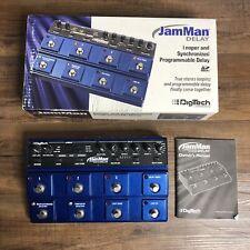 DigiTech JamMan Delay Stereo Looper & Synchronized Program Delay No Power Supply