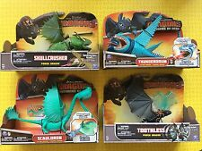 HOW TO TRAIN YOUR DRAGON LOT 4 SCAULDRON BLUE THUNDERDRUM SKULLCRUSHER TOOTHLESS