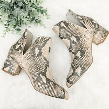 Steve Madden Brand New Without Box Rockir Python Booties Size 8 1/2