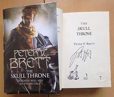 Peter V. Brett,The Skull Throne 1/1 HB LIMITED NUMBERED EMBOSSED 9/25 SIGNED NEW