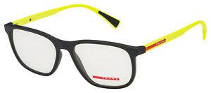 Prada Sport Eyeglasses PS 05LV 2491O1 55 Black/Yellow Frame  [55-17-145]