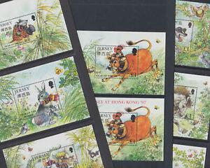 Jersey 1996-2003 Mint MNH 7 Minisheets Chinese New Year Rabbit Dragon Ram Snake