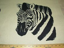 """~2 Piece~""""Zebra"""" Animal~Polyester Pillow Panel Upholstery Fabric For Less~"""