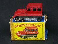 Matchbox Lesney MB35-B2 - Snow-Trac (Red) *Broken Tracks, Broken Box