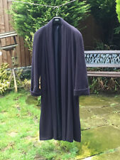 1990's Debenham's Classic Cashmere / Wool Coat - Dark Blue - - Size UK 12
