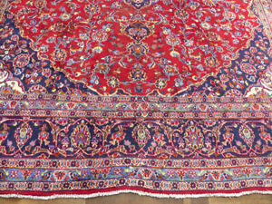 """9'8""""x12'8"""" Authentic Antique Traditional Floral Handmade Wool Rug Oriental"""