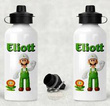 Gourde en aluminium Luigi personnalisée avec le prénom de votre choix