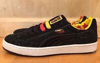 PUMA BASKET II BODE BLACK WHITE SUEDE STARS YELLOW RED SZ 7.5-13  347387-02