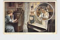 ANTIQUE POSTCARD ADVERTISING BELL TELEPHONE USE WHEN SERVANTS FAIL YOU UNDIVIDED