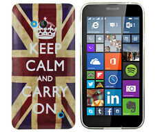 Hülle f Nokia Lumia 640 DUAL-SIM Schutzhülle Tasche Case Keep Calm Carry On UK