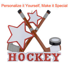 MAXORA Ice Hockey Personalized Christmas Ornament Christmas Gift DO-IT-YOURSELF