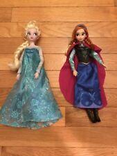 Disney's Frozen Anna And Elsa Dolls, Excellent Condition!