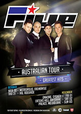 FIVE Australian Tour Poster 2013 A2 5IVE Greatest Hits Invincible Kingsize **NEW
