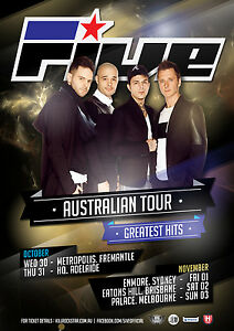 FIVE Australian Tour Poster 2013 A2 5IVE Greatest Hits Invincible Kingsize **NEW