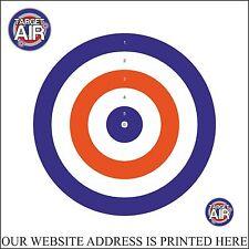 25 CARD PAPER 14CM BLUE, RED & WHITE BULLSEYE AIR RIFLE GUN SHOOTING TARGETS