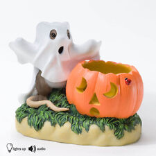 Charming Tails Bootiful Glow Mouse Ghost Pumpkin 4023628 Figure Halloween New