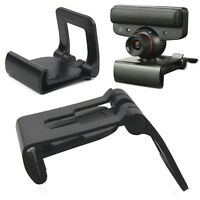 New Black TV Clip for Sony PS3 Move Eye Camera Mount Holder Stand Adjustable UK