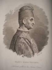M Filippo Maria Visconti Milano incisione  originale 1836