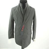$395 Tommy Hilfiger Grey Modern-Fit Robert Raincoat Coat Jacket Mens 36S 36 NEW