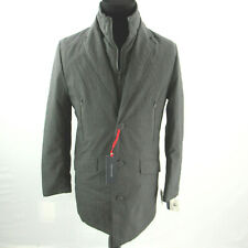 $395 Tommy Hilfiger Grey Modern-Fit Robert Raincoat Coat...