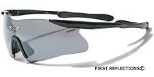 Mens Cycling Biker Sport Shield Sunglasses Ski Snowboard Goggles Black Blue