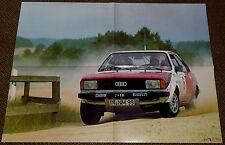 Audi 80 Rallye Gruppe 2 - Poster von 1978 - 55 x 41 cm