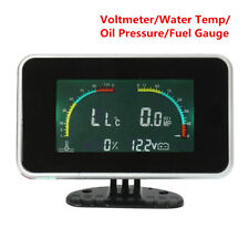 Car Auto 4 in 1 LCD Digital Display Voltmeter/Water Temp/Oil Pressure/Fuel Gauge