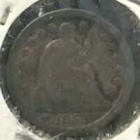 1853 SEATED LIBERTY SILVER LOVE TOKEN PIECE