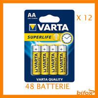 48 Stilo Varta 48 Batterie Pile AA SUM3 R6 Ultra 12 Confezioni Stilo 1.5 V Super