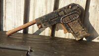 Vintage Toy Chad Valley Black Tinplate Gangster 1920s Gun Pistol Prop to restore