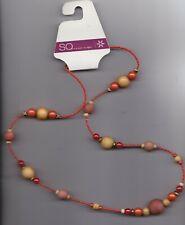 Orange wooden bead necklace / NWT Kohl's