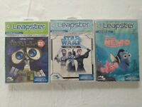 Leap Frog Leapster Game Lot Star Wars Nemo Wall E 3 Games