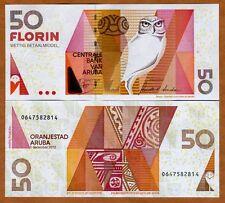 Aruba, 50 florin, 2012, P-18c, New Signature Combo UNC > owl florin