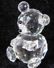 """Vtg Swarovski Crystal TEDDY BEAR 2 3/4 """" Figurine NO BOX"""