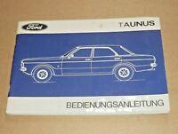 FORD Taunus 1970 Betriebsanleitung Bedienungsanleitung Handbuch