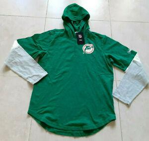 Nike Historic Henley Vintage Miami Dolphins Hooded Sweatshirt NKBR-437M Size M