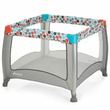 Fisher-Price Baby Laufgitter & Laufstall Reisebett Play N Relax SQ 90x90 cm Grau