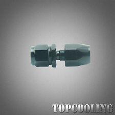 Universal AN6 6AN Straight Swivel Hose End Fitting Adapter Black Aluminum