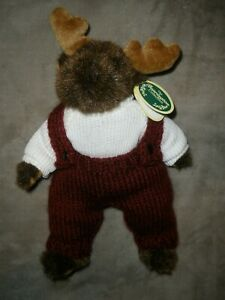 "NWT Bearington Bear Plush 9"" Moose ""Milo"" #1492"