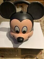 Vintage Vtg Aladdin Industries Mickey Mouse Head Lunch Box - No Thermos -