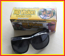 Black Lens The Real Wrap Arounds Over Night Optic Vision Anti Glare HD Glasses