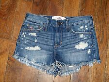 Short en jean bleu style usé - Hollister - Taille 1 W25 - Comme neuf
