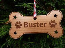 Cane PERSONALIZZATO Decorazione Natalizia Bauble: cane Memoriale Ornamento Albero