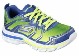 Skechers Thermoblast / Boys/Gel Infused/ Absorbs Impact / Lime/Blue NIB/ 50% OFF