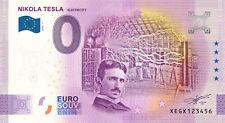 Billet Zero Euro Schein Souvenir Touristique 2020 Tesla Electricity ANNIVERSARY