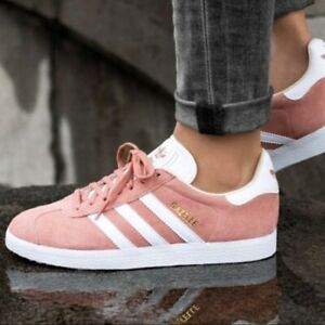 adidas Originals Womens Ladies Girls Adidas Gazelle Glow pink Trainers EF5633